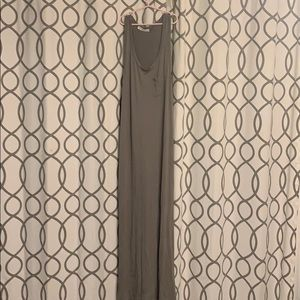 Long tank dress  green olive in color